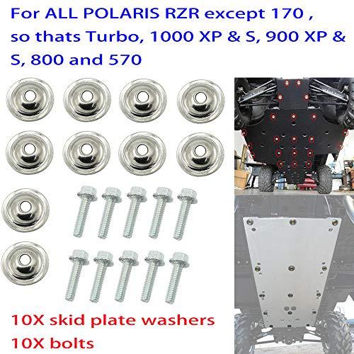 (FidgetKute 20X Skid Plate Washer & Bolt Kit for Polaris UTV Ranger RZR 570 1000 XP 7556065)