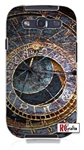 Cool Painting Distressed Look Astronomical Astro Time Clock Unique Quality Hard Snap On Case for Samsung Galaxy S4 I9500 - White Case