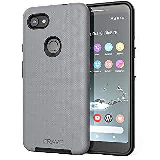 Pixel 3a XL Case, Crave Dual Guard Protection Series Case for Google Pixel 3a XL - Slate