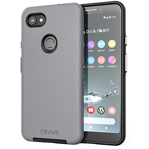 Crave Pixel 3a XL Case, Dual Guard Protection Series Case for Google Pixel 3a XL - Slate (3 Slate)