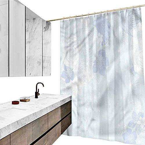 - Jiahong Pan Pale Blue,Shower Curtains with Hooks Victorian Bridal Bouquet Shower Hooks are Included,Multicolor,W72 xL72