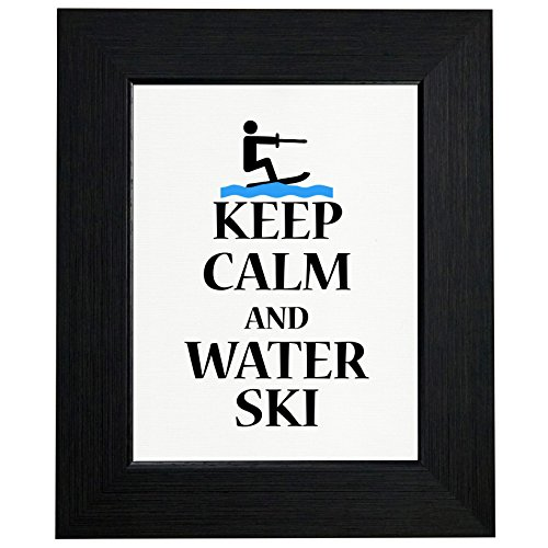Keep Calm And Water Ski - Lake Fun Framed Print Poster Wall or Desk Mount Options