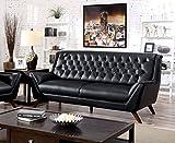 Furniture of America Aster Retro Sofa, Black Review