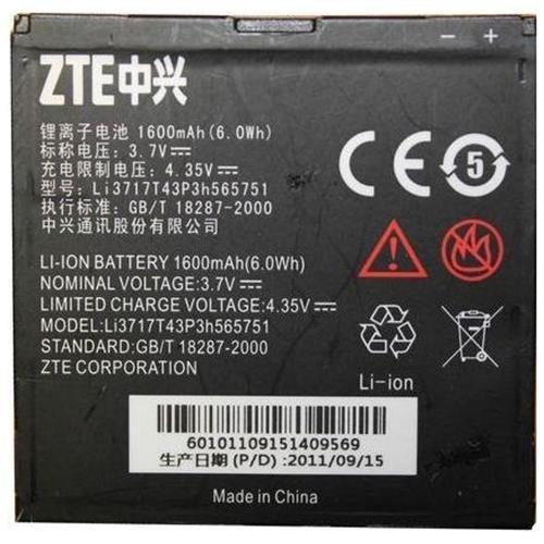 Original ZTE Warp Battery Li3717T43P3h565751