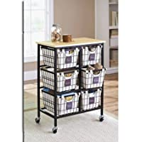 Deals on Better Homes and Gardens 6 Drawer Wire Rolling Cart