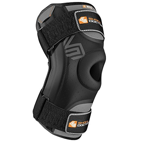 Shock Doctor Knee Stabilizer with Flexible Support Stays (Black, Large)