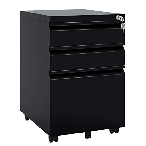 Strange Devaise Locking File Cabinet 3 Drawer Rolling Metal Filing Cabinet Fully Assembled Except Wheels Black Download Free Architecture Designs Grimeyleaguecom