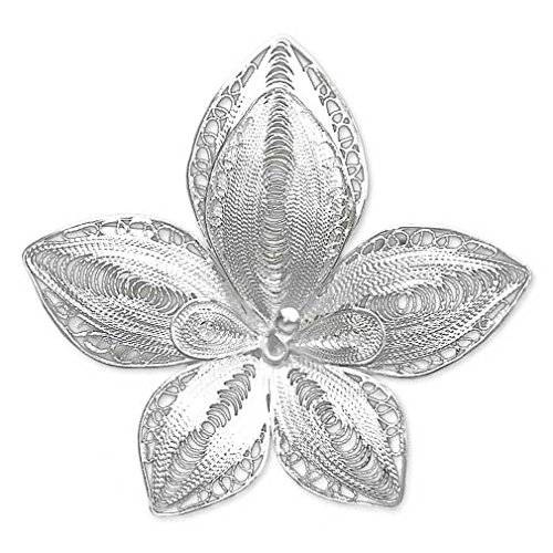 NOVICA .925 Sterling Silver Brooch 'Regal Orchid'