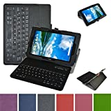 Verizon Ellipsis 10 Bluetooth Keyboard Case,Mama Mouth Coustom Design Slim Stand PU Leather Case Cover with Romovable Bluetooth Keyboard for 10.1'' Verizon Ellipsis 10 Android Tablet,Black