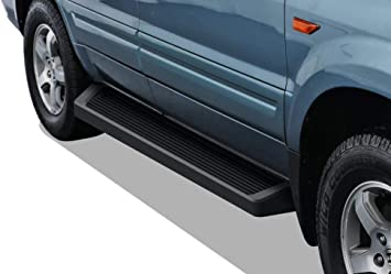 Amazon Com Aps Iboard Black Running Boards Style Custom Fit 2003 2008 Honda Pilot Sport Utility 4 Door 2002 2004 Acura Mdx Nerf Bars Side Steps Side Bars Automotive