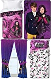 Disney Original Descendants Thorny Rose Bedroom Collection with Comforter, Twin Sheet Set, Window Panels, Plush Throw