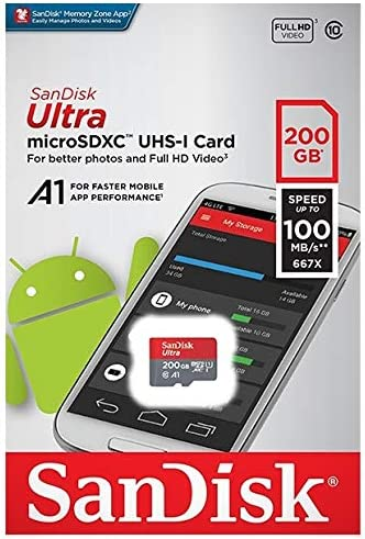 100MBs A1 U1 C10 Works with SanDisk SanDisk Ultra 200GB MicroSDXC Verified for ICEMOBILE Charm by SanFlash