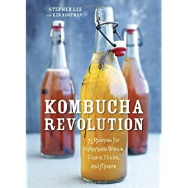 Kombucha Revolution: 75 Recipes for Homemade Brews, Fixers, Elixirs, and Mixers 4 This guide from the founder of Kombucha Wonder Drink demystifies the process of brewing kombucha at home and offers recipes for using it in infusions, smoo