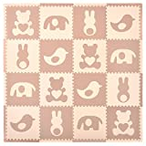 Tadpoles Playmat Set 16-Piece Teddy and Friends, Brown