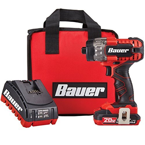 Bauer 1781C-B1 Hypermax Lithium, Hex Compact Impact Driver Kit, 20V by Bauer
