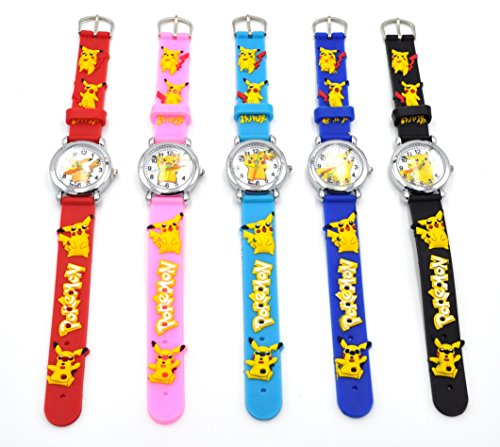 Hot-Selling-Pokemon-Style-Watch-3D-Silicone-Wristwatches-Gift-Set-for-Girls-Boy-Kids-Children