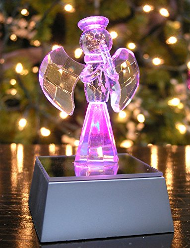 Glass Angel With Led Light