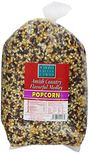Wabash Valley Farms Amish Country Gourmet Popping Corn, Flavorful Medley, 6-Pound Bags (Pack of 3) (Medley Farm)