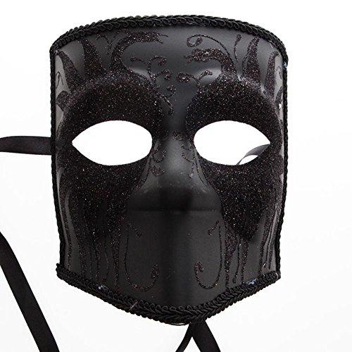 KBW Global Corp Black Glitter Bauta Mask