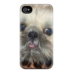 Hill-hill Cnu2546AdOW Case Cover Skin For Iphone 4/4s (shih Tzu Puppy)