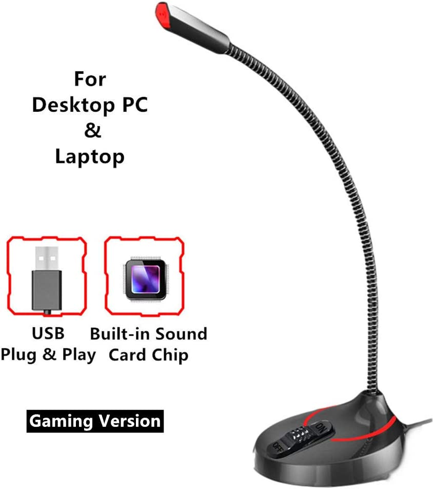 Kcatsy Microphone Usb Laptop Gaming Test Streaming Amazon Co Uk Electronics