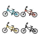 Homyl 4 Pieces 1/24th Mini Alloy BMX Bicycle Toys Finger Bike Diecast Model Stocking Filler