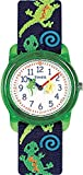 Timex T72881 Kids Analog Gecko Lizard Cloth Strap Blue and Green Watch