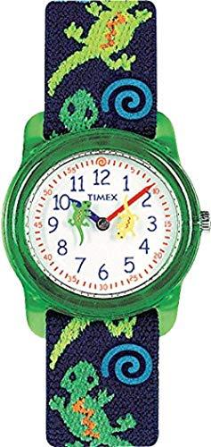 Timex T72881 Kids Analog Gecko Lizard Cloth Strap Blue and Green Watch
