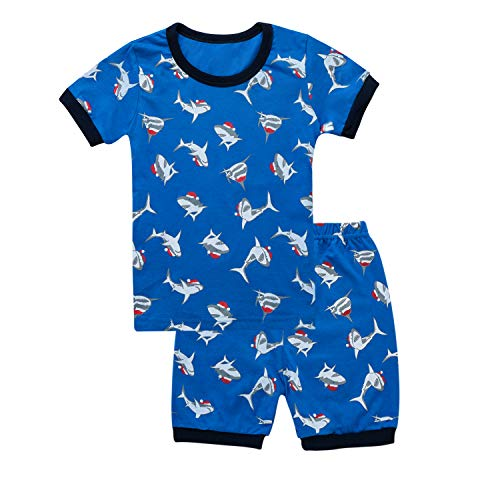 Tkala Fashion Boys Pajamas Children Clothes Set Dinosaur 100% Cotton Little Kids Pjs Sleepwear (3T, 1-Shark)