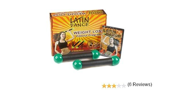 Pérdida de peso baile latino DVD programa para bailar entrenamiento Kit, incluye 1 danza DVD y CD 2 x Dance tonificación palos: Amazon.es: Hogar