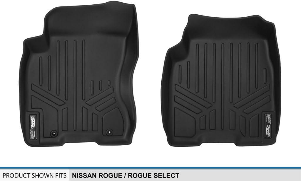 MAXLINER Floor Mats 1st Row Liner Set Black for 2008-2013 Nissan Rogue 2014-2015 Rogue Select