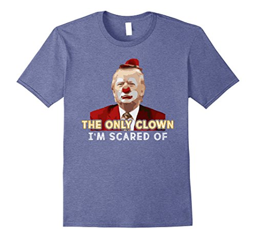 Mens Clown Prank Funny Trump Halloween Novelty T Shirt Large Heather Blue