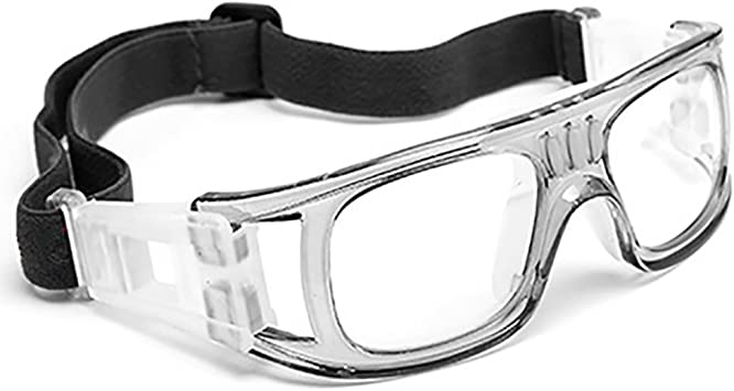 Professional Sports Goggles Protective Safety Goggles Basketball Glasses for Men with Adjustable Strap for Basketball Football Volleyball Hockey Rugby Grey - - Amazon.com