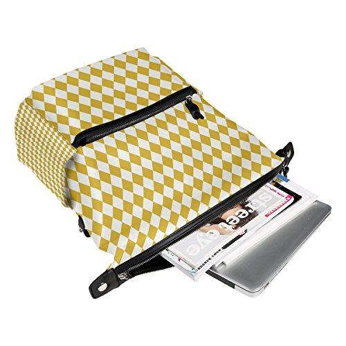 zipper Daypack lady polyester for women with Triangles FANTAZIO Backpacks 13 girls Blue bag School BqwxR8F4