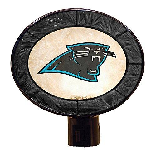 NFL Licensed Carolina Panthers Art-Glass Night Light