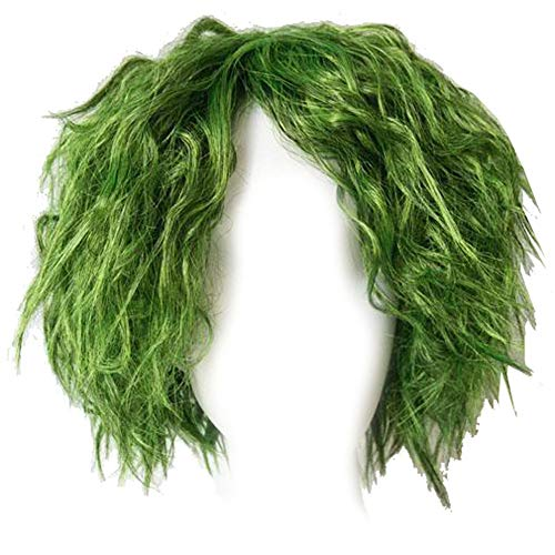 Hot Movie Costume Wig Cosplay Short Grass Green Fluffy Curly Wig Hair