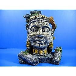 """Ancient Jungle Statue Ruins Cave 7""""x4.7""""x8.2"""" Aquarium Ornament Decor - bonsai"""