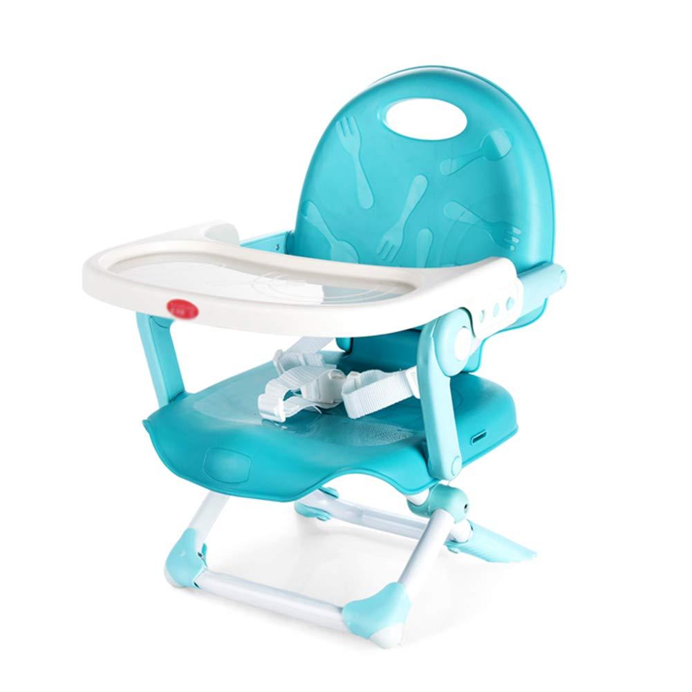 ベビーチェア ベビーブースターシートスペースセーバー幼児の椅子折りたたみ式キッズダイニングチェア多機能スツール(カラーオプション) (色 : 青)  青 B07GSZTBZ7