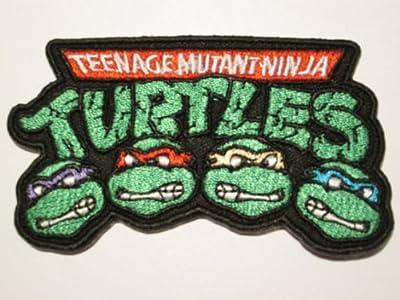 """Teenage Mutant Ninja Turtles Iron-on Patch (3.5"""" / 9cm) Embroidered TMNT Logo Cartoon Badge"""