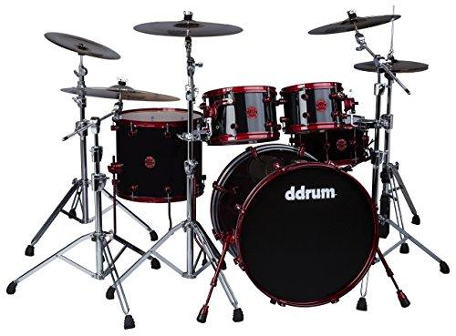 ddrum REFLEX 522 BLK RED -Piece Drum Shell Pack (Drum Ddrum Red)