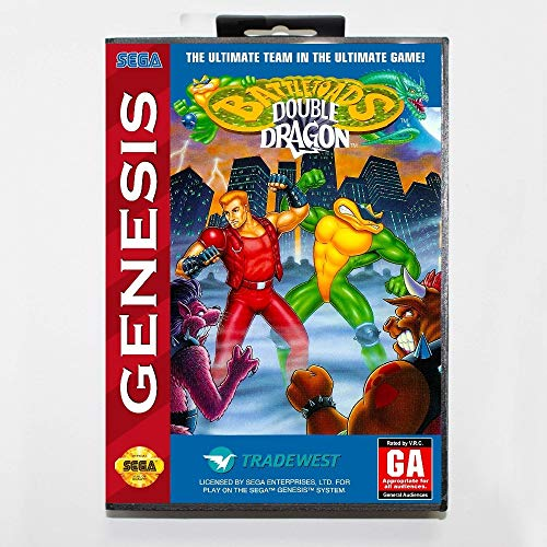 Battletoads And Double Dragon 16 Bit Md Game Card With Box For Sega Megadrive/Genesis