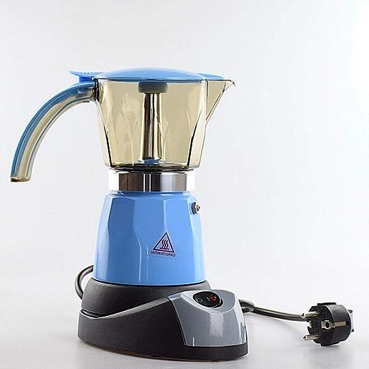 JUNPE cafetera El Color Azul Moka Pot, Cafetera Eléctrica De ...