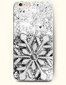 OOFIT New Apple iPhone 6 ( 4.7 Inches) Hard Case Cover - Silver Snowflake Ornament