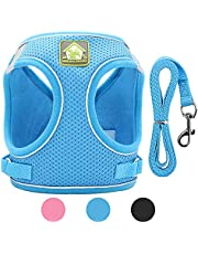 2021 New WINHI No Pull Dog Harness Medium or Small Dog and Cat Harness Adjustable and Soft with A Easy Control Leash Dog Harness for Small or Medium Breed Easy Walk Dog Harness