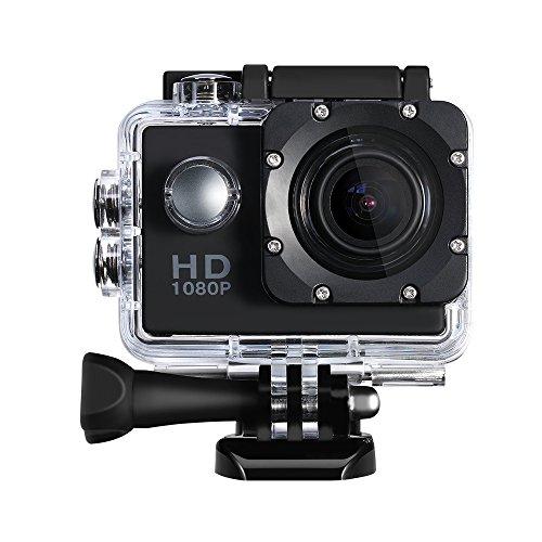 Sport Kamera,Topop 2 Zoll Actionkamera mit 12 Megapixel Bild und Full HD (1080p bei 30 Bildern pro Sekunde) Video, 30m Tiefe wasserdicht, 170 Grad Weitwinkel Fisheye Linse, mehrere Zubehörer