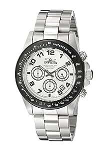 Invicta 10702 - Reloj cronógrafo para hombre, correa de acero inoxidable color plateado