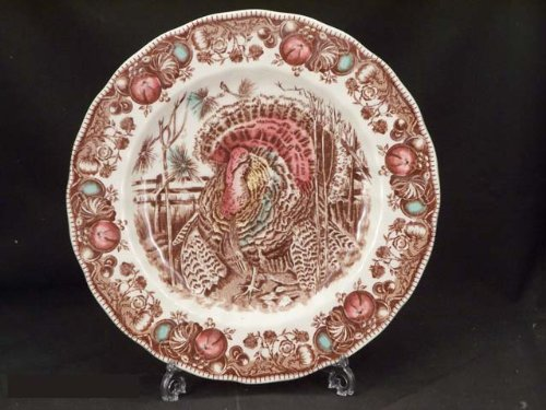 Set of 4 Dinner Plates Johnson Bros His Majesty Pattern