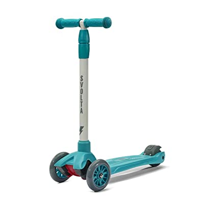 SVOLTA Mega 3-Wheel Scooter for Kids - Teal and Gray : Sports & Outdoors