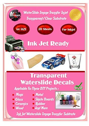 Water-Slide Image Transfer Paper. Inkjet Ready Clear Nail/Photo/Image Decal Paper