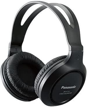Panasonic Headphones RP-HT161-K Full-Sized Over-the-Ear Lightweight Long-Corded,Black